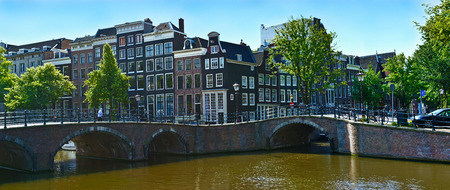 there are a lot of channels in amsterdam but a lot more bridges there photo
