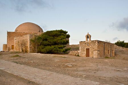 chappel: Sultan Ibrahim mosque and small chappel near of it are located in Venetian citadel named Fortezza, Rethymno, Crete, Greece.