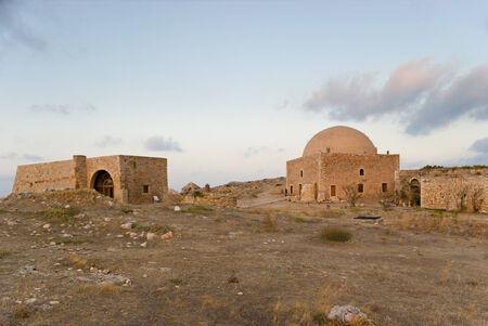 rethymno: Sultan Ibrahim mosque in Venetian citadel of Rethymno was built, when Fortezza passed into Turkish territory, Crete, Greece.