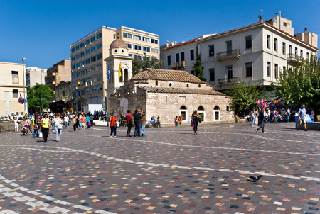 ATHENS, GREECE - OCTOBER 12, 2013: The Church of Saint Mary Pantanassa is located on the Monastiraki square, it was known as the Great Monastery, later as monastiraki (little monastery), and gave name to this area, on October 12 in Athens.