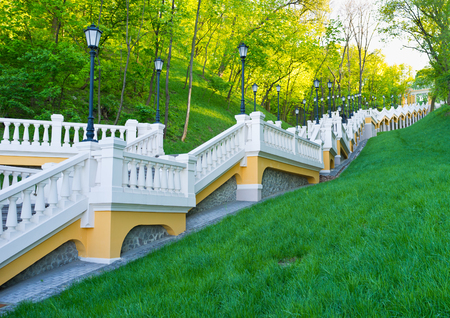 baptizing: The long staircase on Mykhailo Hill connects the Dnieper embankment with the upper city of Kiev, Ukraine.