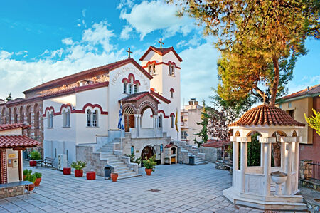 THESSALONIKI, GREECE - OCTOBER 17, 2013: In the Upper Town stands the church of the Archangels, dedicated to Michael and Gabriel, on October 17 in Thessaloniki. Editorial