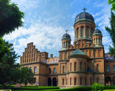 chernivtsi: CHERNIVTSI, UKRAINE - JUNE 20, 2014: The former Seminary Church on the territory of the National University, on June 20, 2014.