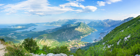 The mountain roads over the Kotor bay are very popular among tourists, because of many fantastic viewpoints, Montenegro. photo