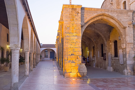 lazarus: The courtyard between the entrance to the St Lazarus church and Ecclesiastical museum, surrounding the church, Larnaka, Cyprus.