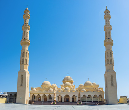 The Port Grand Mosque of Hurghada is one of the most popular landmarks of the city Shedwan street, Egypt. photo