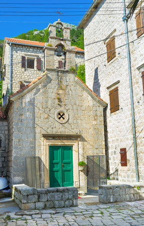 Church of St. John the Baptist is one of the oldest landmarks of Perast, Montenegro. photo
