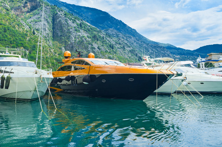 The luxury yachts in port of Kotor, Montenegro. photo