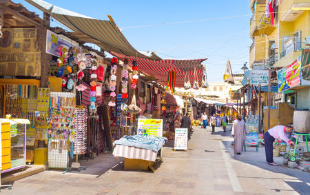 best way: ASWAN, EGYPT - OCTOBER 6, 2014: The best way to get new experience in Egypt is to visit the traditional arabic market, on October 6 in Aswan. Editorial