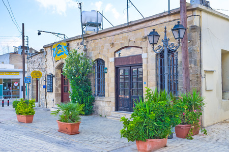 polis: POLIS, CYPRUS - AUGUST 3, 2014: The small town has a lot of cafes and restaurants for every taste and budget, on August 3 in Polis. Editorial