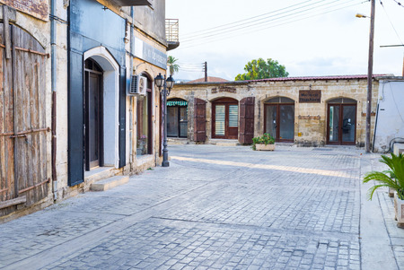 polis: POLIS, CYPRUS - AUGUST 3, 2014: The old town consists of the small scenic houses, mostly built of local stone, on August 3 in Polis.