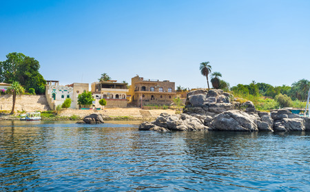 notable: The Nubian village, located on the Kitcheners island is the notable tourist landmark of Aswan, Egypt.