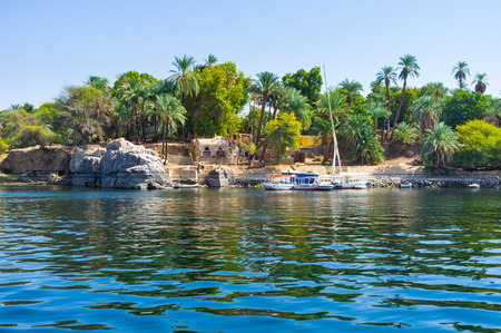 The Kitchener's island is also known as the Island of plants, it's popular tourist destination in Aswan, Egypt. Zdjęcie Seryjne