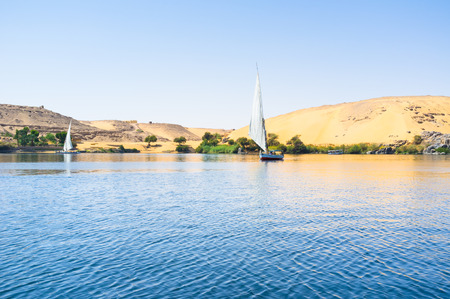 west bank: The trip to the desert west bank of Nile river, Aswan, Egypt. Stock Photo