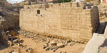 residential neighborhood: The archaeological site in the old residential neighborhood of Aswan, Egypt.
