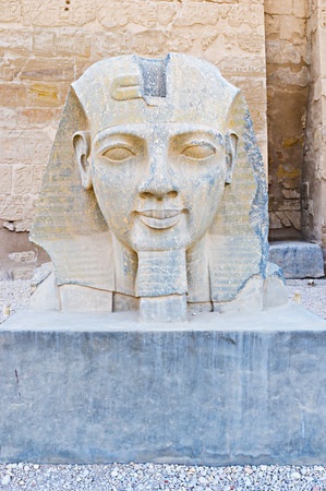 thebes: The Luxor Temple is the perfect place to feel the spirit of history and enjoy the ancient sculpture and architecture, Egypt.