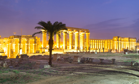 archaeological complex: The Luxor Temple is well preserved archaeological complex, located next to the Nile embankment, named Kornish al Nile, Egypt. Editorial