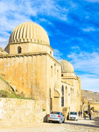 mesopotamian: MARDIN, TURKEY - JANUARY 14, 2015: The Zinciriye Madrasa is the notable landmark of the town, on January 14 in Mardin.