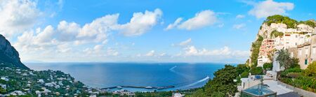 tyrrhenian: The aerial view on the Gulf of Naples from the rocky island