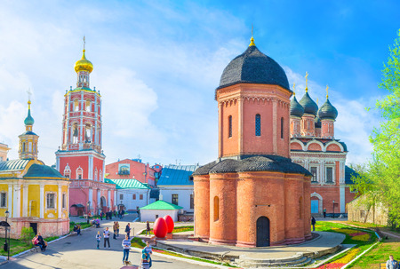 petrovka: MOSCOW, RUSSIA - MAY 9, 2015: The rotunda cathedral of St Peter of High Monastery of St Peter, on May 9 in Moscow.