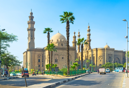 notable: The Royal Mosque and the Mosque of Sultan Hassan are the notable landmarks of the city, located next to the Saladin Citadel, Cairo, Egypt.
