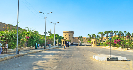 CAIRO, EGYPT - OCTOBER 9, 2014: The Privet Entrance Bel Kalaa is the tourist way to the Saladin citadel, on October 9 in Cairo.