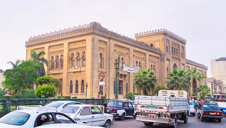 islamic art: CAIRO, EGYPT - OCTOBER 9, 2014: The  luxurious facade of the Museum of Islamic Art on Port Said street, on October 9 in Cairo. Editorial