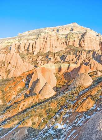 best place: The rocky landscape of Cappadocia is the best place for relax in a peaceful atmosphere, Turkey.