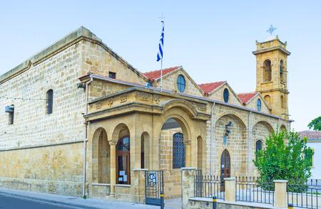 notable: The St Savvas parish church is the notable landmark of the old town, Nicosia, Cyprus.