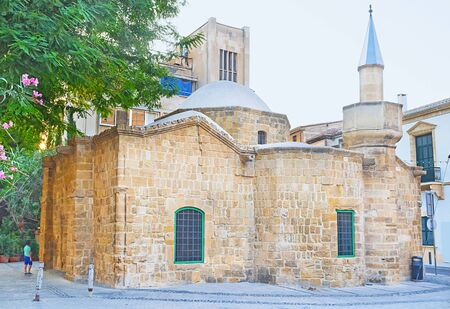 tou: The Arablar Djami mosque was originaly built as the Stavros tou Missirikou church, converted into a mosque during the Ottoman conquest, Nicosia, Cyprus. Stock Photo