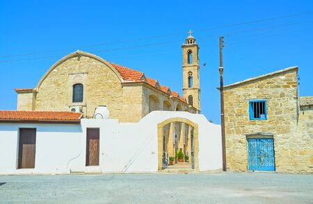 maroni: The St George square is the center of Maroni village, named after the  medieval stone church, Cyprus.