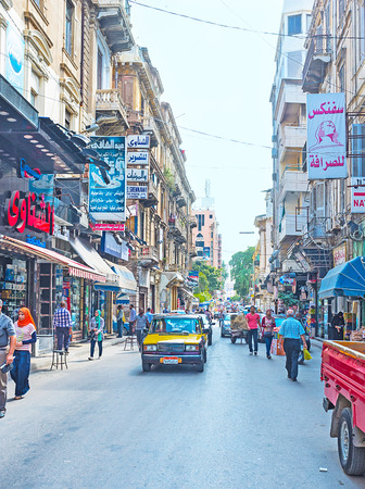 nabi: ALEXANDRIA, EGYPT - OCTOBER 11, 2014: The shopping centre of the old mediterranean city, on October 11 in Alexandria. Editorial