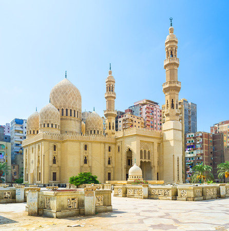 egypt: The Attarine Mosque is the beautiful example of Islamic architecture, Alexandria, Egypt. Stock Photo