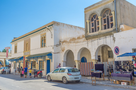 place of interest: MONASTIR, TUNISIA - AUGUST 29, 2015: Medina is the oldest neighborhood nowadays serving as a market and the place of historic interest, on August 29 in Monastir. Editorial