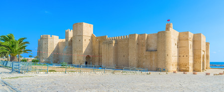 Ribat is the best place to enjoy the medieval spirit and overview the old town and the coast, Monastir, Tunisia. Publikacyjne