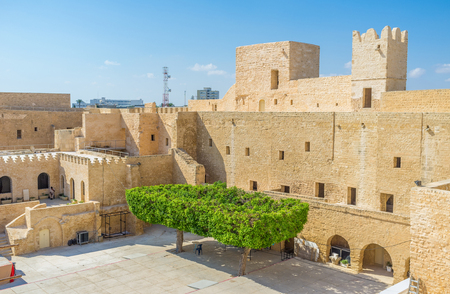 stronghold: Nowadays the old stronghold surves as the museum, Monastir, Tunisia.