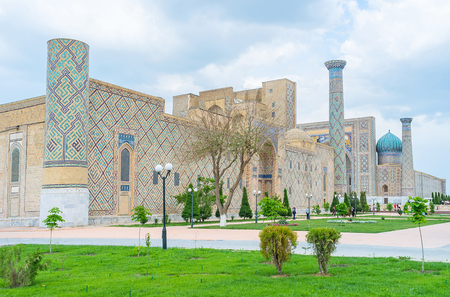 registan: The Registan Square is one of the most colorful architectural complex in country, Samarkand, Uzbekistan.