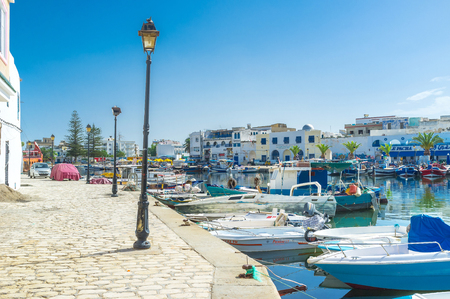 best way: BIZERTE, TUNISIA - SEPTEMBER 4, 2015: The best way to feel the spirit of Bizerte is to walk in the old port, on September 4 in Bizerte.