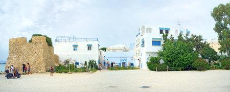 bon: HAMMAMET, TUNISIA - SEPTEMBER 6, 2015: One of the best tunisian resorts located on Cap Bon, on September 6 in Hammamet. Editorial