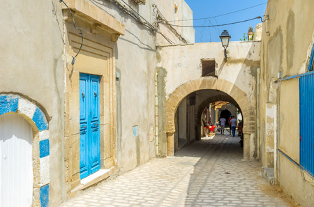 best way: The best way to discover old Medina is to walk a couple of hours in maze of its streets, Sousse, Tunisia.