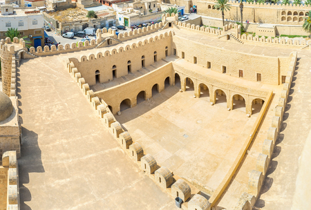 best place: The old fortress of Ribat is the best place to feel the medieval spirit of Sousse, Tunisia. Stock Photo