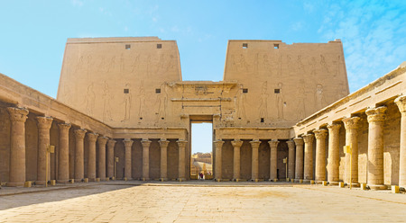 ruins is ancient: The great Temple of Horus is the best place in Upper Egypt to feal the spirit of the ancient times, Edfu.