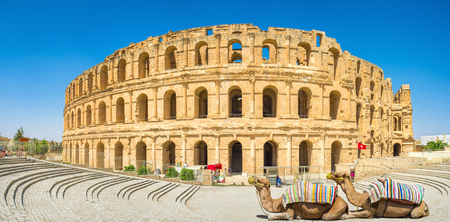 The beautiful amphitheatre in El Jem remindes the Roman Colloseum, and is one of the most popular landmarks in Tunisia.