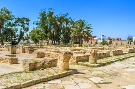 archaeological sites: Many Tunisian towns boast archaeological sites and museums with Punic and Roman antiquities, EL Jem is not exception, Tunisia.