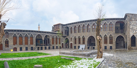 notable: DIYARBAKIR, TURKEY - JANUARY 15, 2015: The Cemil Pasha mansion is the notable landmark of the old town, on January 15 in Diyarbakir.