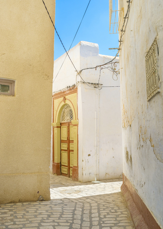 kairouan: The tiny homes of Medina in Kairouan, Tunisia. Stock Photo