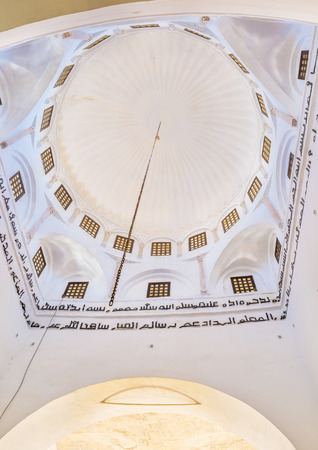 kairouan: KAIROUAN, TUNISIA - AUGUST 30, 2015: The cupola of Zaouia of Sidi Amor Abbada decorated with the arabic letters, on August 30 in Kairouan. Editorial