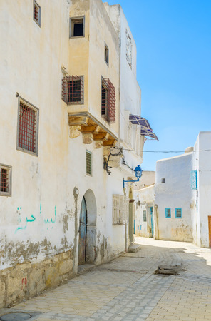 kairouan: The old Kairouan is the beautiful place fr lazy daily walks, Tunisia. Stock Photo