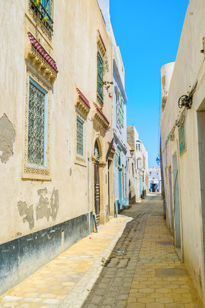 arabic architecture: Medina is the historic district of Kairouan and the best place to discover medieval arabic architecture, Tunisia.