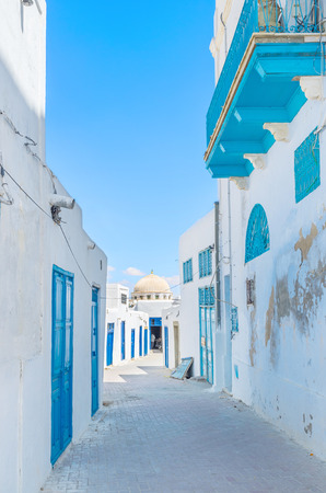 kairouan: Medina of Kairouan consists of old residential houses, that no less interesting than other landmarks of the town, Tunisia. Stock Photo